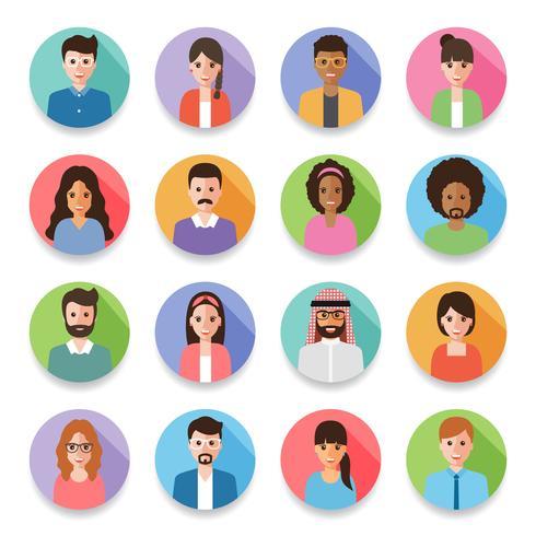 Empresarios y avatares de mujeres empresarias. vector