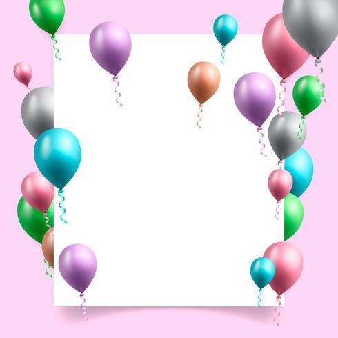 Ilustración de vector de fondo de celebración de cumpleaños