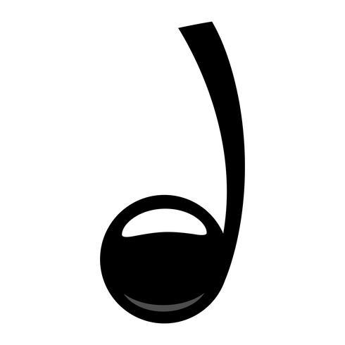 Música, notas, vetorial, ícone vetor