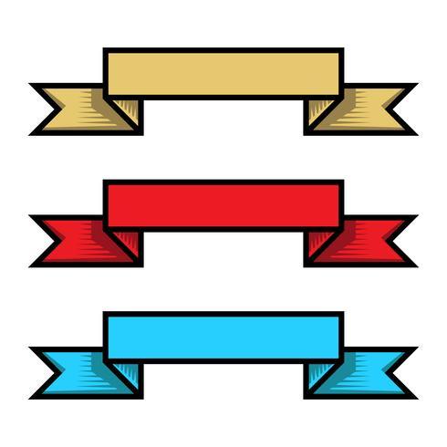 Banner vector pictogram