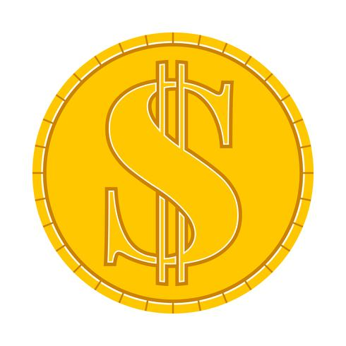 Geld munt Vector Icon
