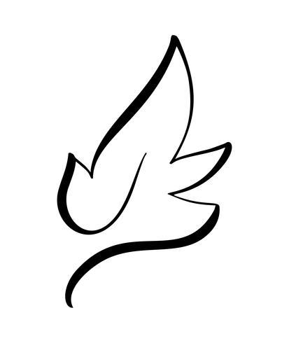 Vector la siluetta stilizzata della foglia dell'albero della molla isolata su fondo bianco. Eco segno, natura etichetta logo. Elemento decorativo per marchi medici ed ecologici