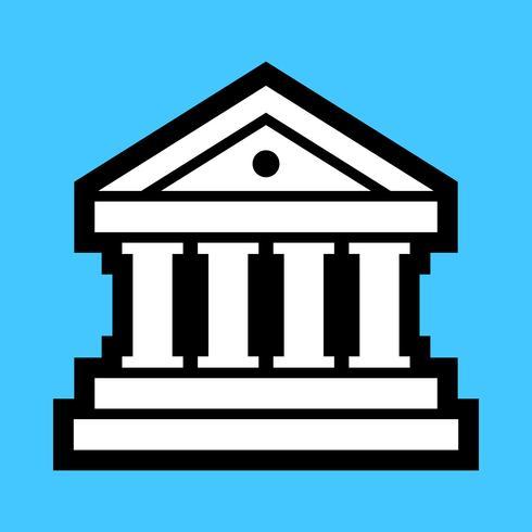 bank vector pictogram