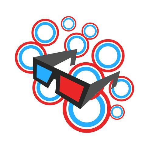 3D-filmglasögon vektor