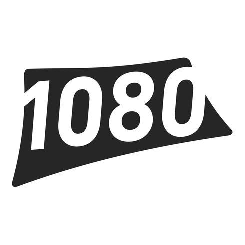 1080 grafische tekst van het hoge definitie videoformaat vector