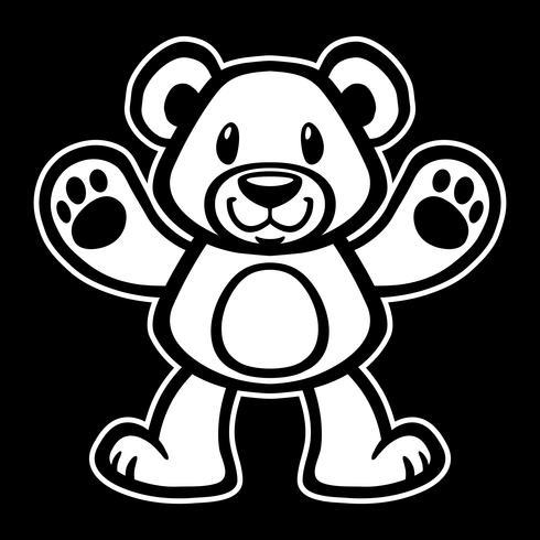Lindo oso de peluche vector