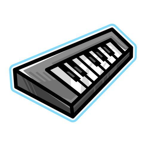 Icono de vector de instrumento musical de teclado de piano