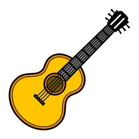 Guitare vecteur