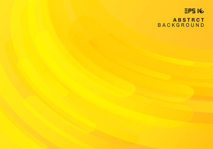 Abstract yellow geometric background and dynamic curve fluid motion shapes composition. vector