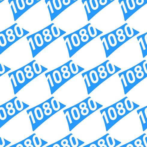 Graphique de texte au format vidéo haute définition 1080