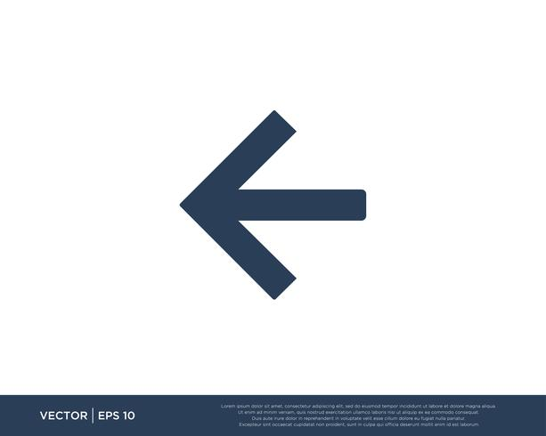 Arrow Icon Vector Template Symbol