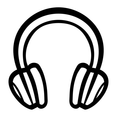 Headphones Music Accessory vector icon