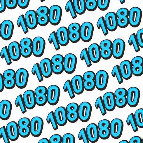 1080 de alta definición de formato de vídeo de texto gráfico