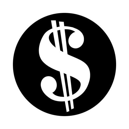 Dollar sign green vector