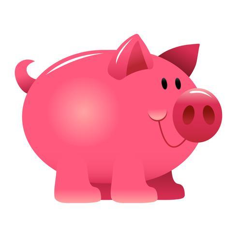 Ilustración de vector de dibujos animados de cerdo
