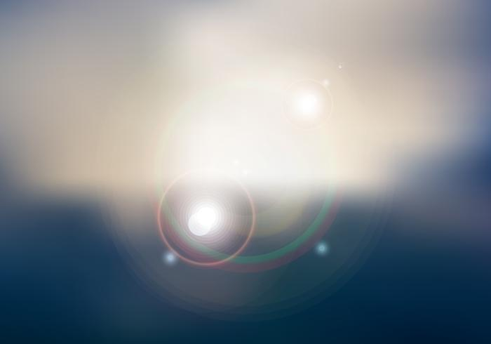 Abstract sunset or sunrise sky and sun shining blurred background with flare. vector