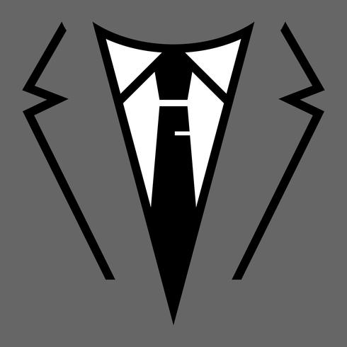 Uomo d'affari nell'icona di vettore testa vestito