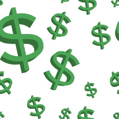 Signo de dólar verde vector