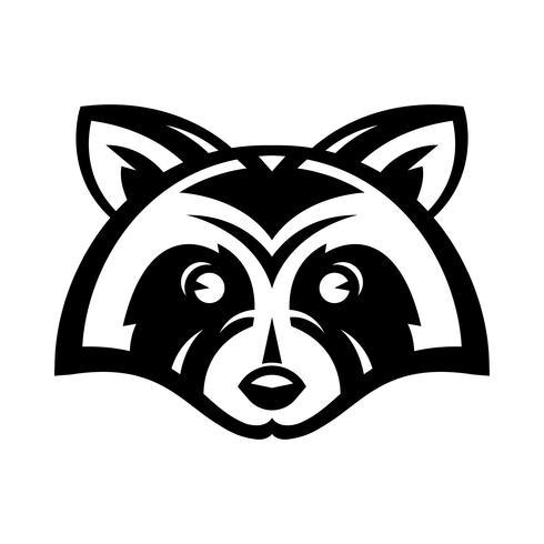 Vector de cara de animal de mapache