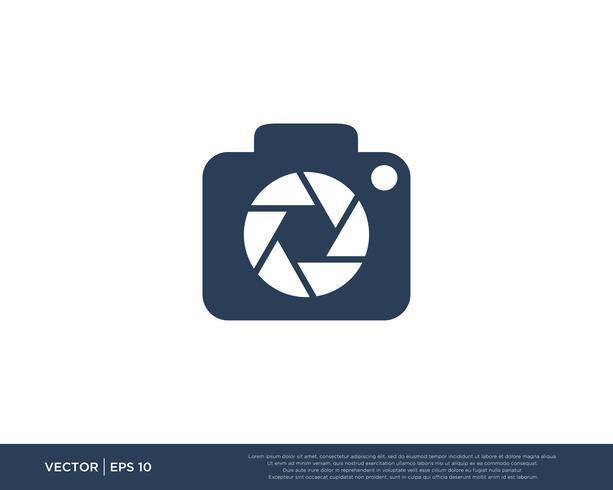 Cámara obturadora Logo Icon Vector