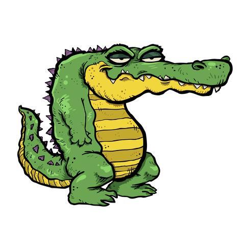 Illustration de dessin animé d'alligator vecteur