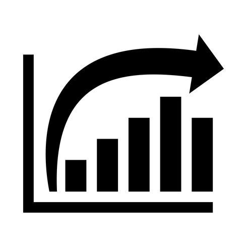 Staafdiagram Vector pictogram