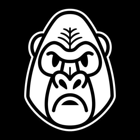 Cara de mono gorila mono