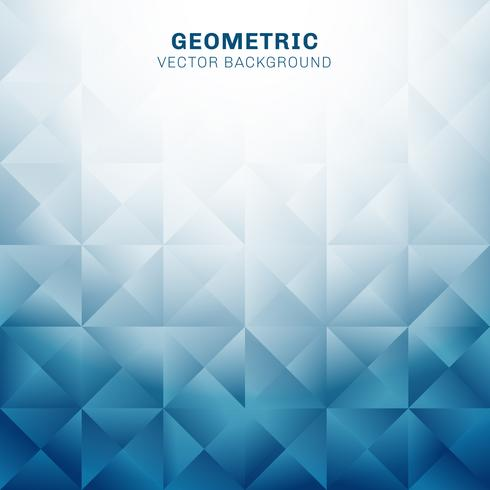 Abstract geometric triangles pattern blue background with place for text vector