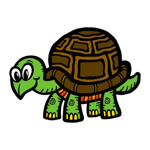 Niedliche Cartoon-Schildkrötenillustration