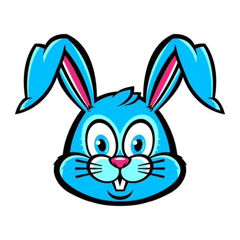 Gráfico de conejo de conejito de dibujos animados vector