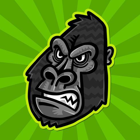 Gorilla Ape Monkey Face vector