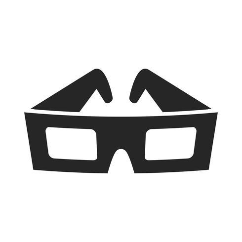 Gafas de película 3D vector