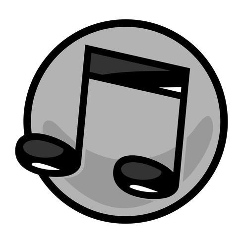 Icono de vector de notas de música