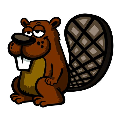 Cartoon beaver illustration vector