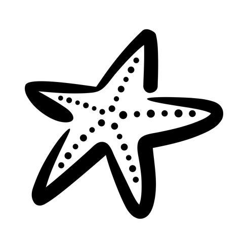 Starfish sea creature vector icon