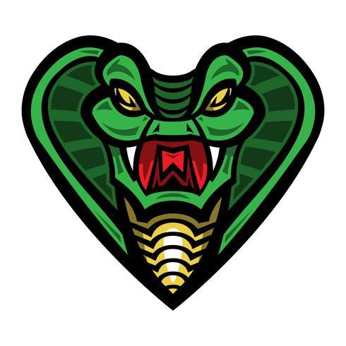 Ilustración de serpiente cobra mortal