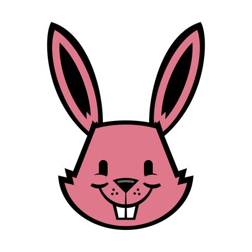 Cartoon bunny rabbit graphic vector