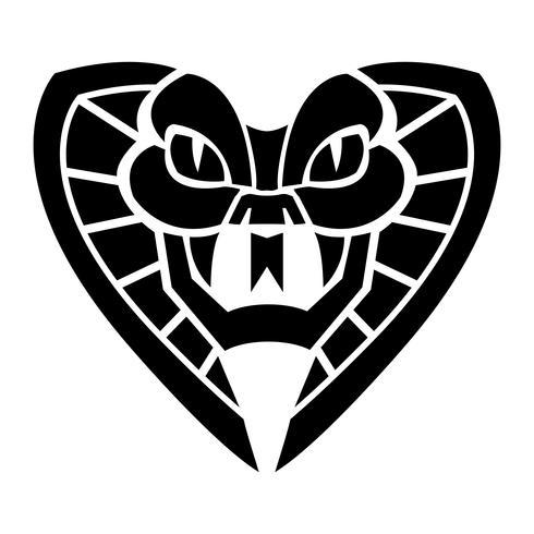 Illustration d'un serpent cobra mortel