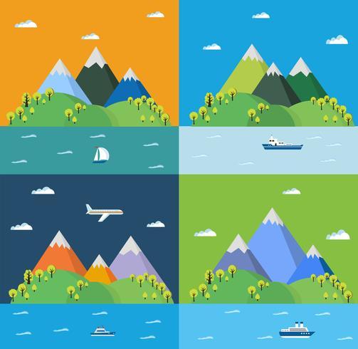 Conjunto paisaje vector