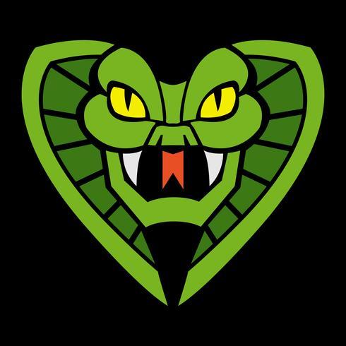 Illustration d'un serpent cobra mortel vecteur
