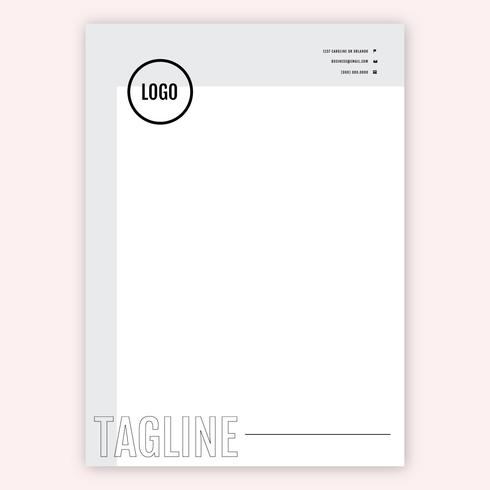Gray And Black Letterhead Template vector