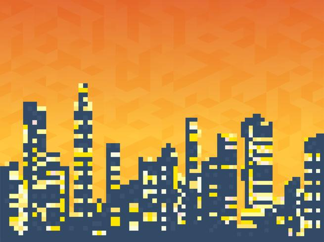 Cityscape of skyscrapers houses vector