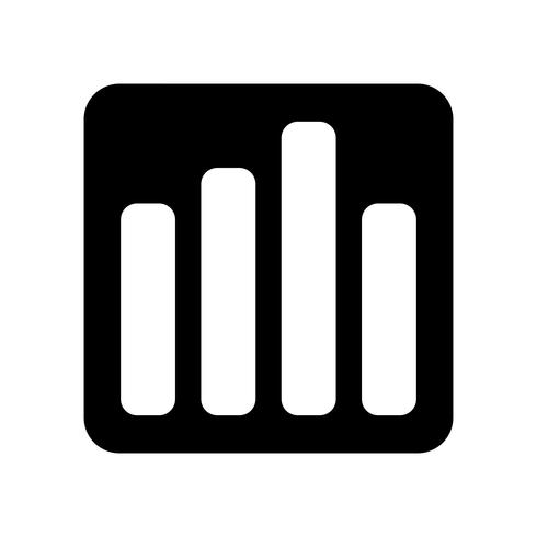 Bar Graph Vector Icon