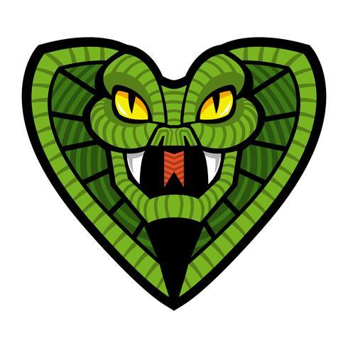 Deadly cobra snake illustration vector