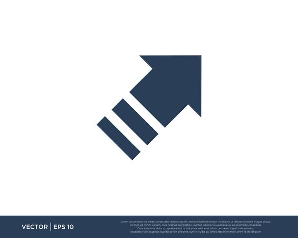 Símbolo de modelo de vetor de ícone de seta