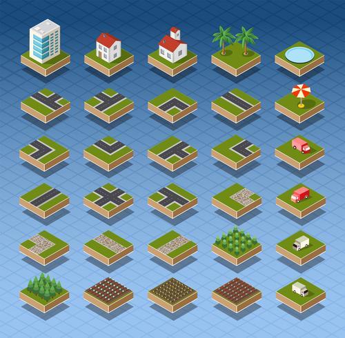 Isometrische Stadtplan