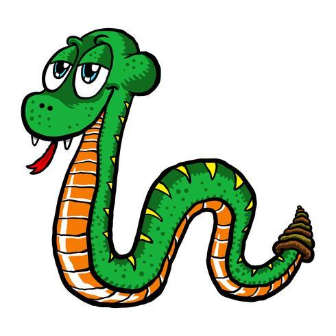 serpente simpatico cartone animato