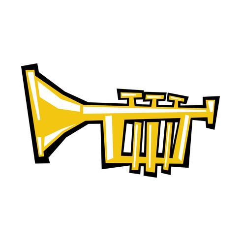 Icona di vettore del fumetto di tromba