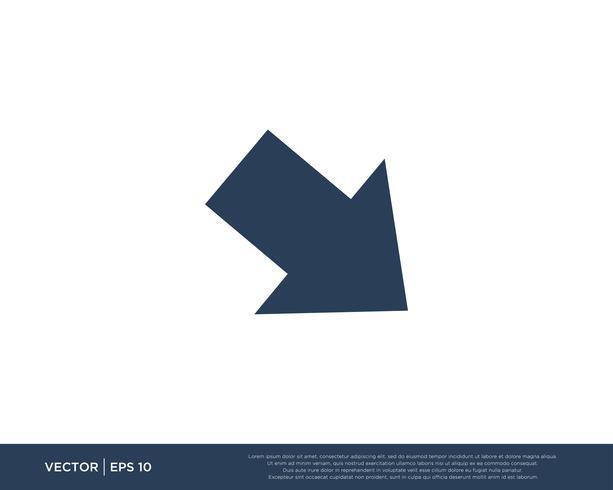 Icono de flecha Vector símbolo de plantilla