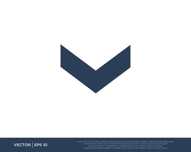 Arrow Icon Vector Template Symbol